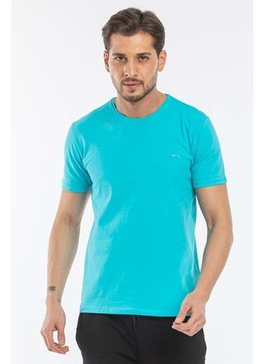 Slazenger Slazenger SANNI Erkek T-Shirt  Turkuaz